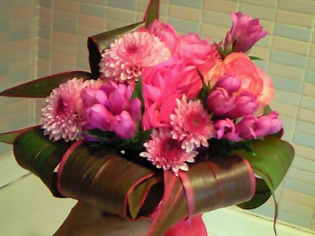 今年も花束をいただきました!
