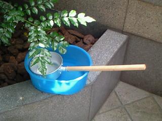 打ち水用に柄杓を購入