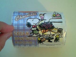 スヌーピー・クリームサンドクッキー(チョコレート味)