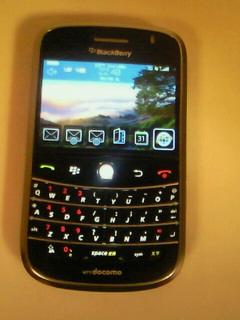 """ドコモの""""BlackBerry Bold<br />  """"買いました!"""