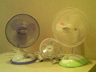 ちび扇風機3兄弟