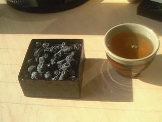 サンルームでお茶