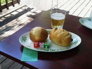石窯焼きのパンでブランチ@軽井沢