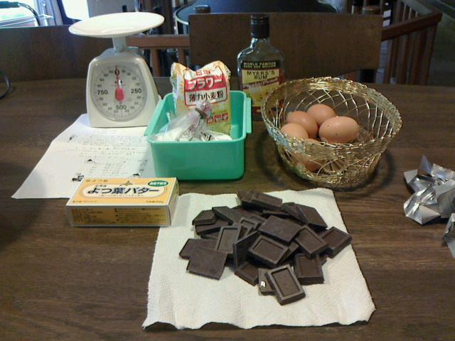 軽井沢でチョコレートケーキ作り‐2